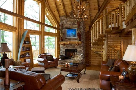 home design elements llc log home caldwell traditional family room other