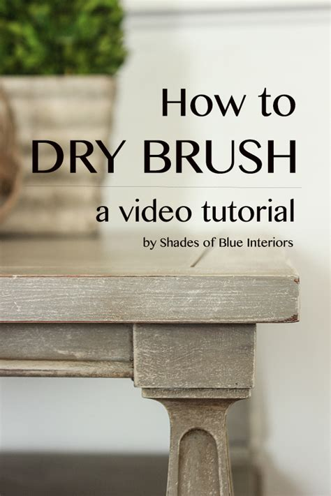 Faux Paint Techniques video tutorial how to dry brush shades of blue interiors