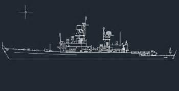 Floor Plan Symbols War Ship Autocad Drawings 187 Cadsample Com