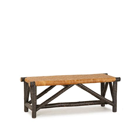 rustic leather bench rustic woven leather bench la lune collection