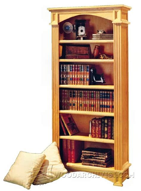 1192 traditional bookcase plans woodarchivist