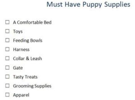 puppy supplies list must puppy supplies checklist