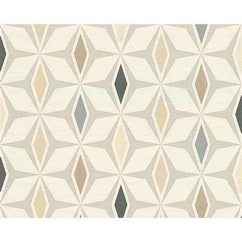 Motif Roll as creation geometric pattern wallpaper retro 60s motif textured roll ebay