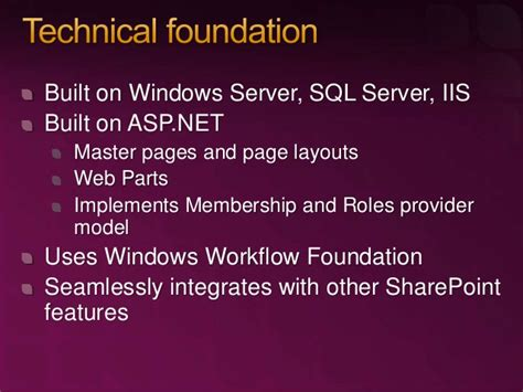 windows workflow foundation future anatomy of a dynamic sharepoint website