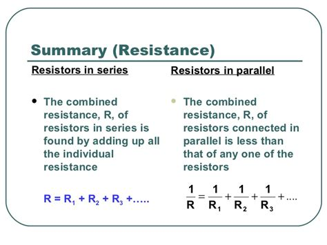 resistors in series ppt electric circuits ppt slides
