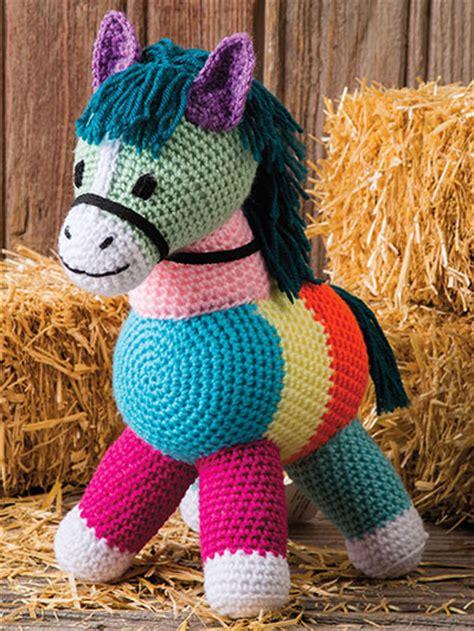 Patchwork Pony - crochet patchwork pony ec01727