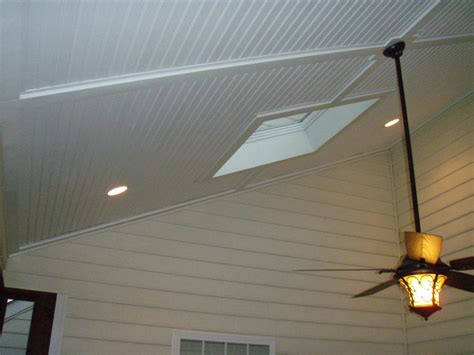 Ceiling Vinyl by Vinyl Beadbord Screen Porch Ceiling From Curtis