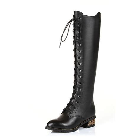 7 Gorgeous Pairs Of Lace Up Boots by Black S Fashion Shoes Pu Leather Beautiful Heels