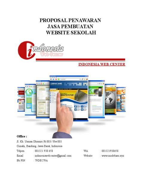 proposal membuat website sekolah proposal penawaran jasa pembuatan website sekolah docx
