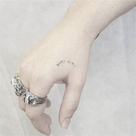 tattoo hand needle single needle baby girl tattoo on the right hand tattoo