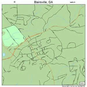 map of blairsville blairsville map 1308480