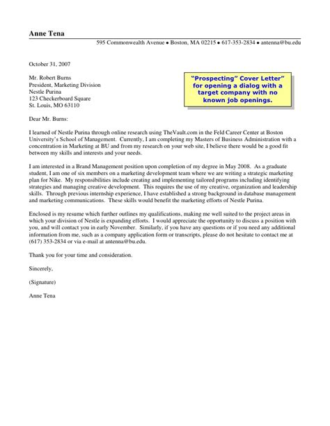 Insurance Letters To Prospects Prospects Sales Letter Exle