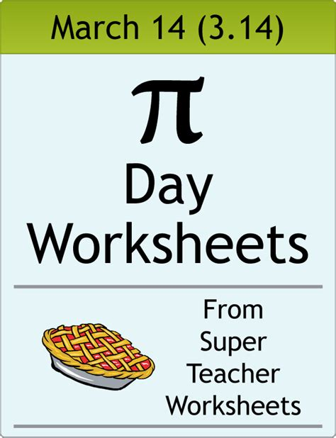 printable worksheets for pi day pi day worksheets worksheets tataiza free printable