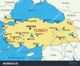 turkey map vector republic turkey vector map stock vector 98147846