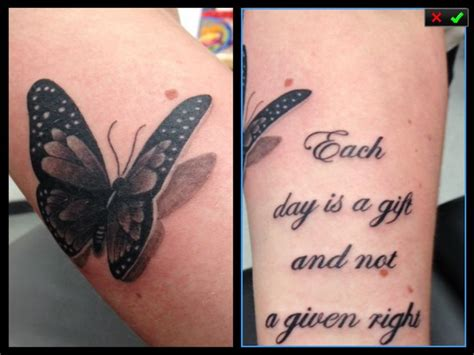 girly forearm tattoos butterfly 3d quote forearm girly greyshade