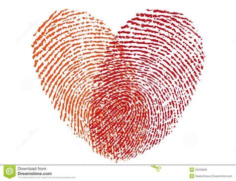 cadenas empreinte digitale prix coeur rouge d empreinte digitale vecteur illustration de