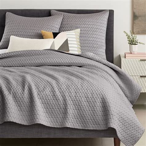coverlet sham gramercy coverlet shams west elm