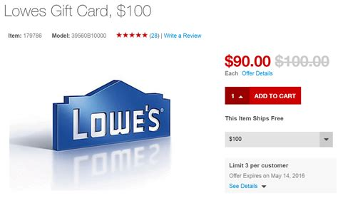 Pay Lowes Credit Card With Gift Cards - 100 lowe s gift card for 90 from staples stacks with 5x ink or amex offer