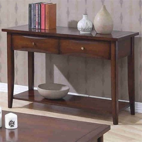 sofa table with drawers and shelf coaster whitehall sofa table with shelf storage drawers