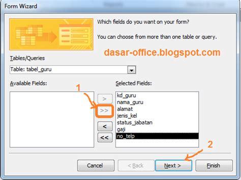 cara membuat query di microsoft access tutorial membuat tabel database dengan microsoft access