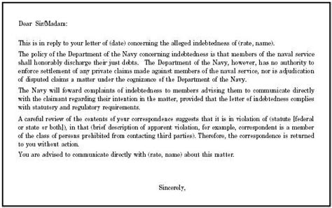 Service Member Letter Referral To Service Member Debtor