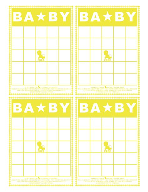 Baby Shower Bingo Printables by Baby Bingo Printable The Scrap Shoppe