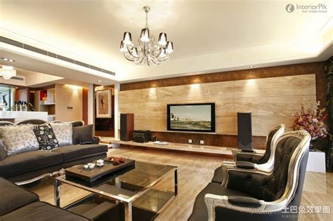 Grey Livingroom Appealing Modern Living Room Tv Background Wall With