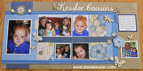 scrapbook layout cousins cousins scrapbook layout with pemberly scraptabulous