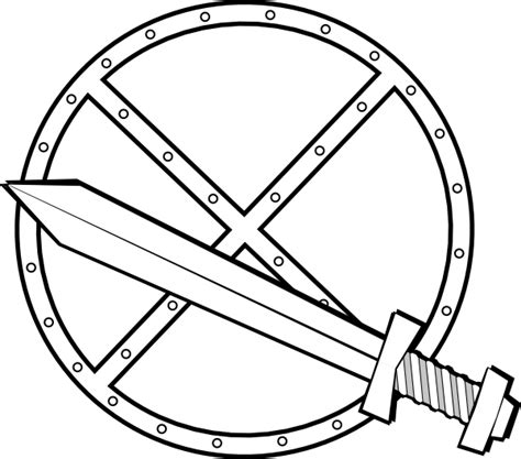 jonadab round sword and shield clip art at clker com