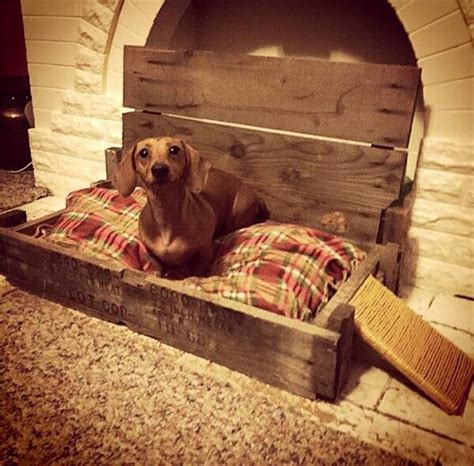 dog bed made from pallets diy wooden pallet beds for dog and pet pallets designs