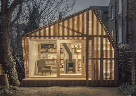 Writers Shed by Glowing Cedar Clad Fairytale Writer S Shed In By