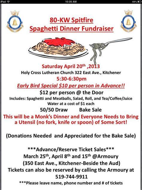 Fundraising Dinner Letter Air Cadet Spaghetti Fundraising Dinner Pto Ideas