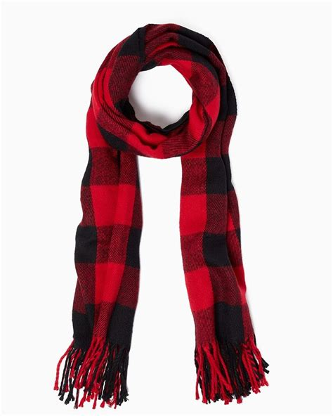 charming buffalo plaid scarf upc 400000003986