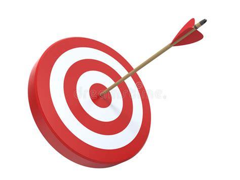 clipart freccia obiettivo con la freccia illustrazione di stock