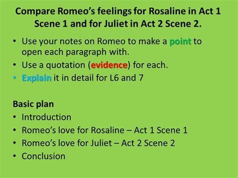 compare romeo and juliet in romeo and juliet chart essay question compare romeo s feelings for rosaline in