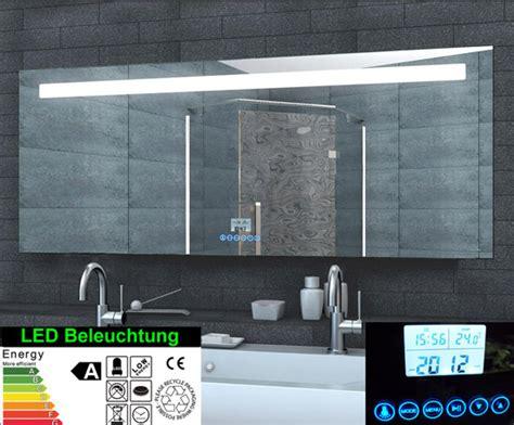 spiegelschrank zweitürig spiegelschrank mit uhr bestseller shop f 252 r m 246 bel und