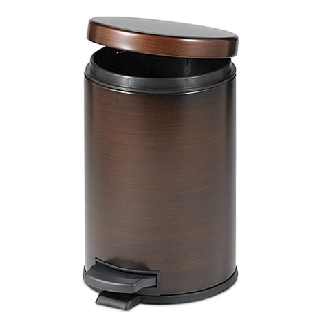 trash can with lid bathroom buy bathroom trash cans from bed bath beyond