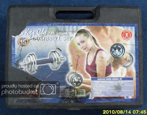 Dumbbell Plate 15kg Silver Chrome 15kg chrome dumbbell set weight fitness strength toning ebay