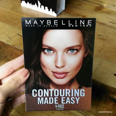 Maybelline V Contour makeup in manila maybelline v contour launch