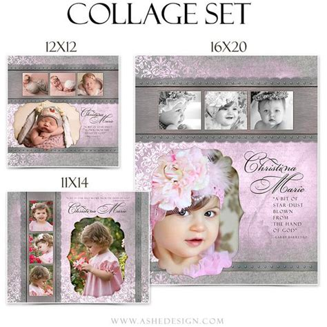 collage template baby ashedesign baby collage set ashedesign