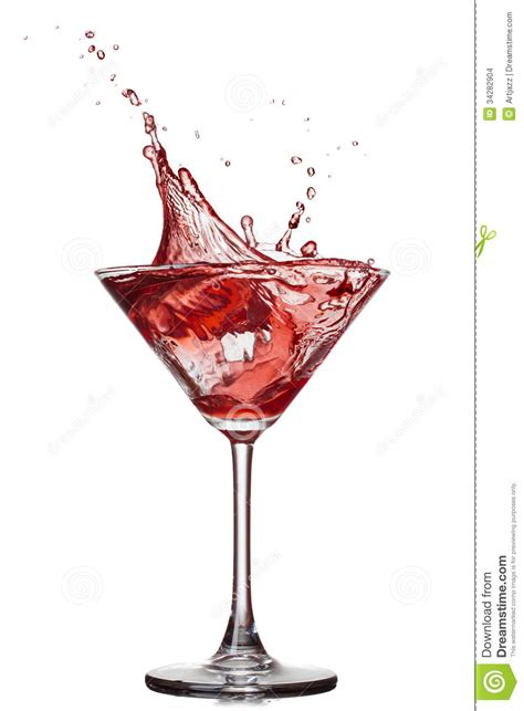 red martini splash red cocktail with splash stock images image 34282904