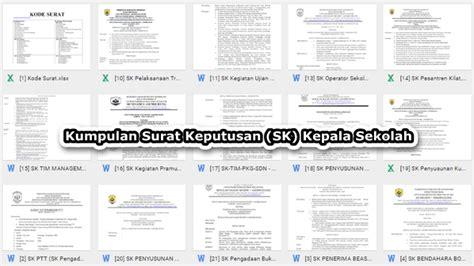 contoh surat keputusan sk kepala sekolah untuk semua