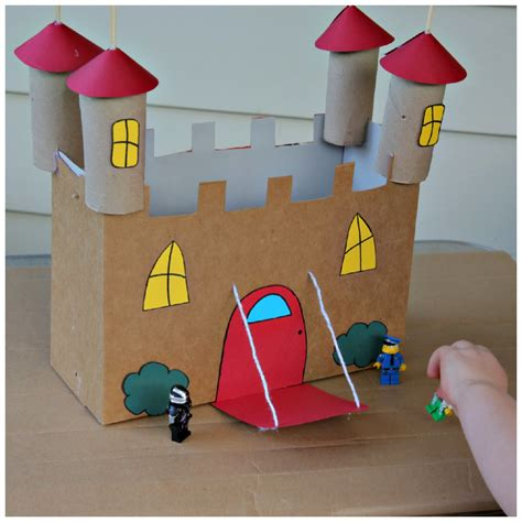 Cardboard Papercraft - recycled cardboard castle craft 183 kix cereal