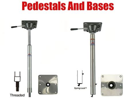 boat seat pedestal threaded bass boat pedestal post and base
