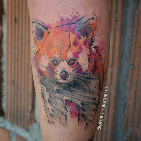red panda tattoo 34 watercolor panda tattoos