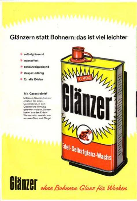 Wie Geöltes Parkett Polieren by Gl 228 Nzer Erdal Werbung 50iger
