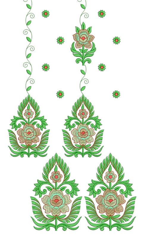 embroidery design latest embdesigntube daman 250 top dupatta embroidery design
