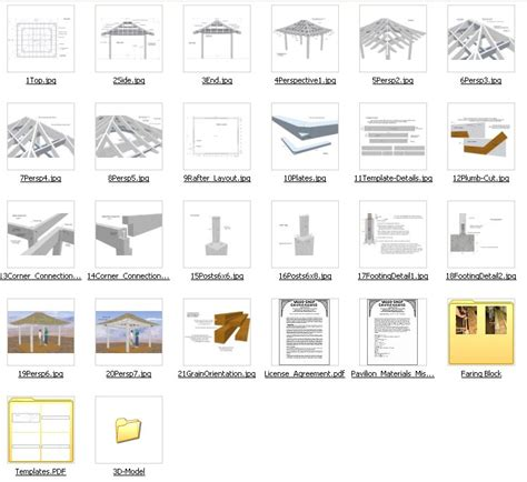 Home Shop Plans pavilion examples