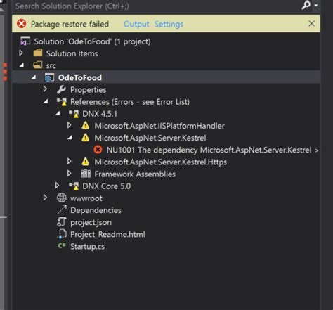 visual studio 2015 reset settings command line nuget restore fails in visual studio 2015 enterprise