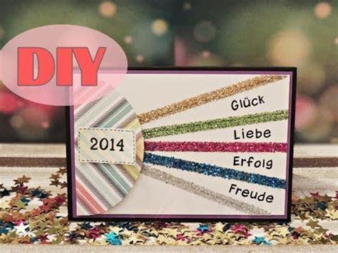 silvesterkarte selber basteln neujahr new year card